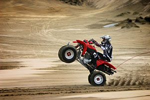 4wheeler doing wheelie